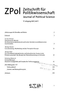 Zeitschrift f  r Politikwissenschaft PDF