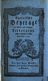 Baierische Beyträge zur schönen und nützlichen Litteratur: Band 3
