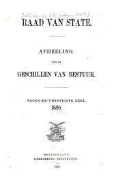 Raad van state: Afdeeling voor de geschillen van bestuur, Volume 29
