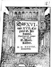 Das 16. und 17. Capitel S. Johannis