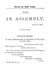 Report of the Commissioners of Fisheries of the State of New York: Volume 12, Part 1881