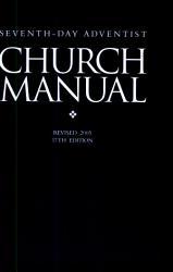 Seventh day Adventist Church Manual  PDF