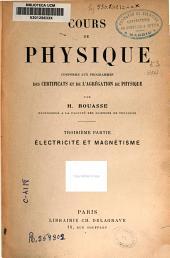 Cours de physique: Électricité et magnétisme, Partie3