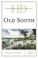 Historical Dictionary of the Old South PDF