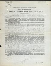 General Timber Sale Regulations