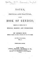 Notes  Critical and Practical  on the Book of Genesis PDF