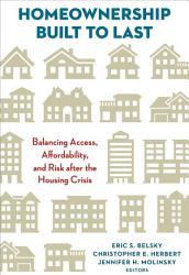 Homeownership Built To Last Book PDF