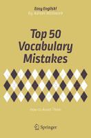 Top 50 Vocabulary Mistakes PDF