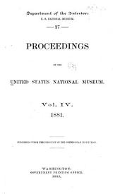 Proceedings of the United States National Museum: Volume 4