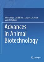 Advances in Animal Biotechnology PDF