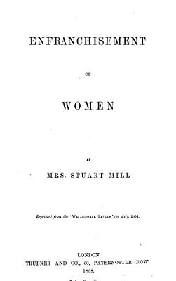 Enfranchisement of Women
