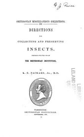 Directions for Collecting and Preserving Insects: Volume 11, Issue 4