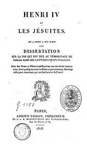 Henri IV et les Jésuites