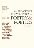 The Princeton Encyclopedia of Poetry and Poetics PDF