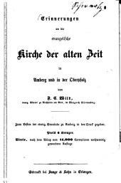 Erinnerungen an die evangelische Kirche der alten Zeit in Amberg und in der Oberpfalz