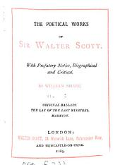 The poetical works of sir Walter Scott. With prefatory notice by W. Sharp: Volume 1
