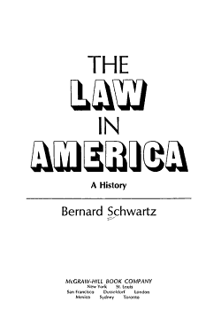 The Law in America  a History PDF