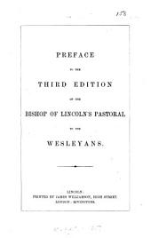 Preface to the third edition of ... Pastoral to the Wesleyans
