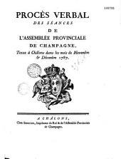 Procès-verbal de l'assemblée provinciale de Champagne en 1787