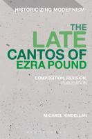 The Late Cantos of Ezra Pound PDF