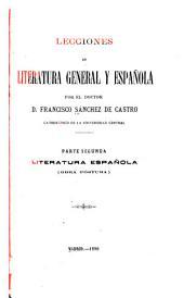 Lecciones de literatura general y española: Volumen 2
