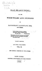 Paulding's Works: Salmagundi; or, The whim-whams ... of Launceleot Langstaff. First and second series