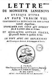 Reflexions sur la lettre de Jansenius au Pape Urbain VIII