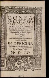 Confabulatio ... de verae religionis articulis