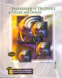 Foundations Of Electronics And Circuits And Devices