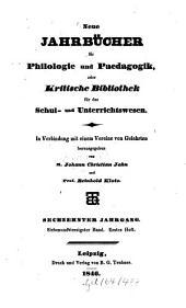 Neue Jahrbücher für Philologie und Pädagogik: Band 47