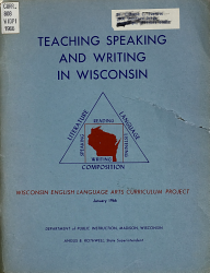 Teaching  Speaking and Writing in Wisconsin PDF