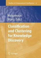 Classification and Clustering for Knowledge Discovery PDF