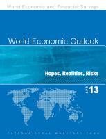 World Economic Outlook  April 2013 PDF
