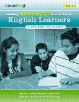 Making Mathematics Accessible to English Learners PDF