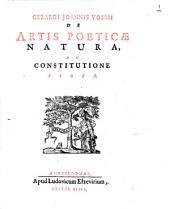 De artis poeticae natura ac constitutione liber: Volume 1