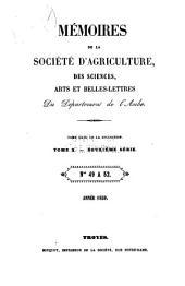 Mémoires de la Société académique d'agriculture, des sciences, arts et belles-lettres du département de l'Aube: Volume23;Volume26