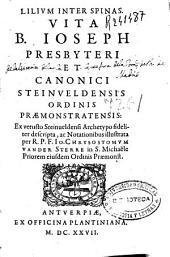 Vita B. Ioseph Presbyteri et Canonici Steinveldensis Ordinis Praemonstratensis