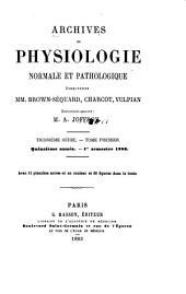 Archives de physiologie normale et pathologique: Volumes1à3