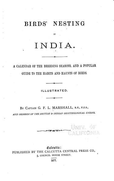 Download Birds  Nesting in India Book