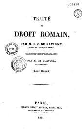 Traité du droit romain: Volume5