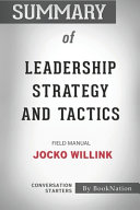 Download Summary of Leadership Strategy and Tactics Book