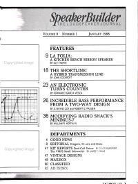 Speaker Builder PDF