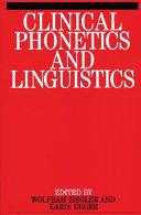 Clinical Phonetics and Linguistics PDF
