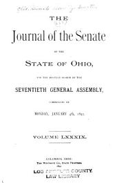 Journal of the Senate of the State of Ohio: Volume 70