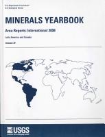 Minerals Yearbook  2008  V  3 Area Reports PDF