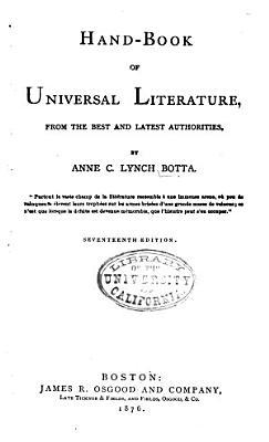 Hand book of Universal Literature PDF