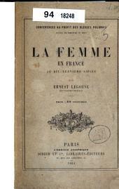 La femme en France au dix-neuvième siècle