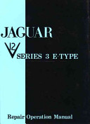 Jaguar E-type V12 Series 3 Workshop Manual