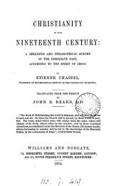 Christianity in the nineteenth century, tr. by J.R. Beard