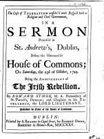 The Case of Toleration Consider d with Respect Both to Religion and Civil Government  in a Sermon Preach d in St  Andrew s  Dublin  Before the Honourable House of Commons  on Saturday  the 23rd of October  1725  Etc PDF